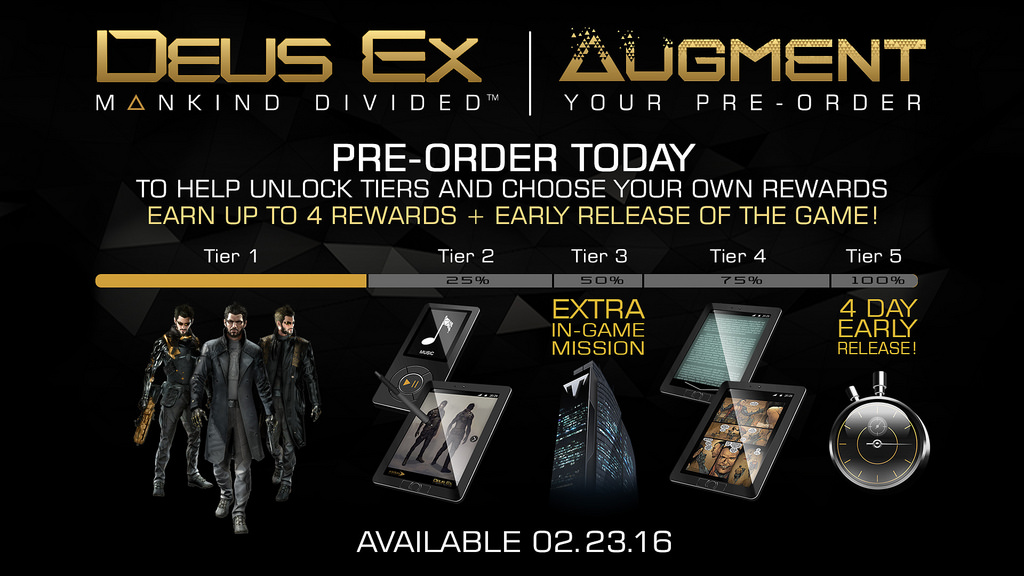We Need To Talk About Videogame Pre Orders deusex preorder