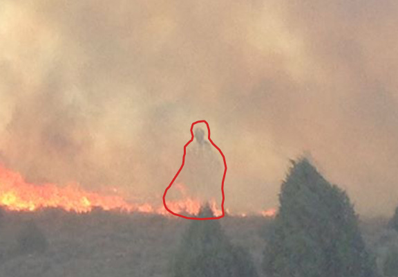 Spooky Photo Of Ghost In Wildfire Dubbed Firemans Guardian Goes Viral fire ghost