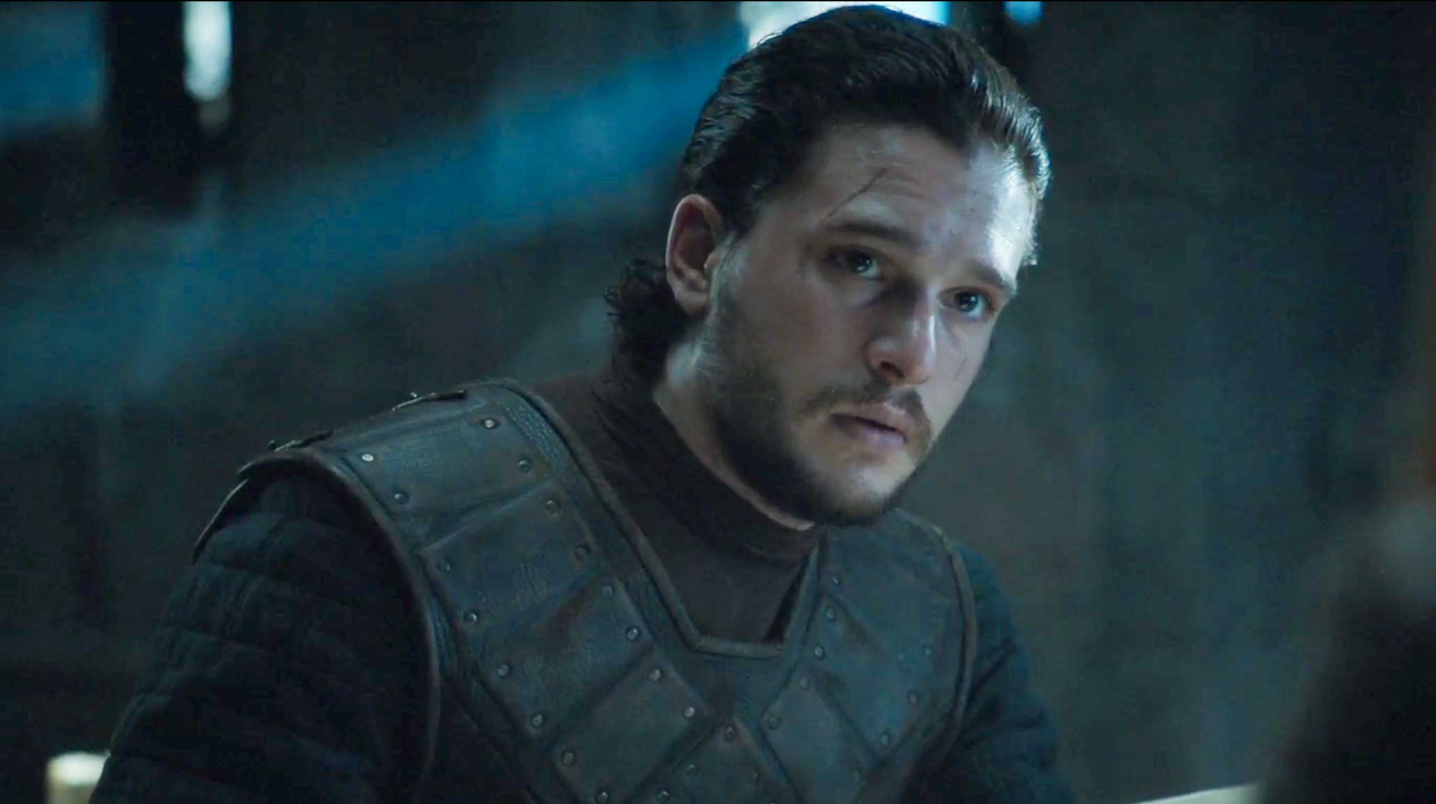 Kit Harington Reveals What To Expect From Game Of Thrones Next Season jon snow holds pink letter game of thrones