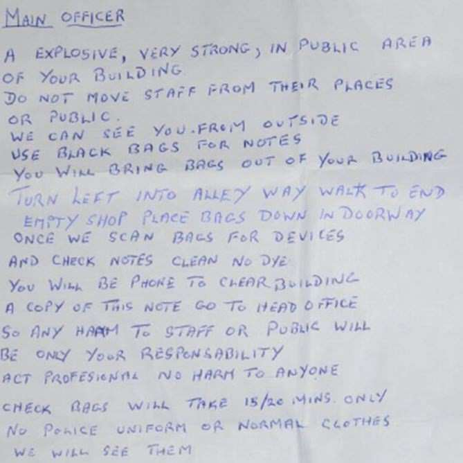 This Pensioners Bizarre Note Sparked Bomb Threat kent police 1