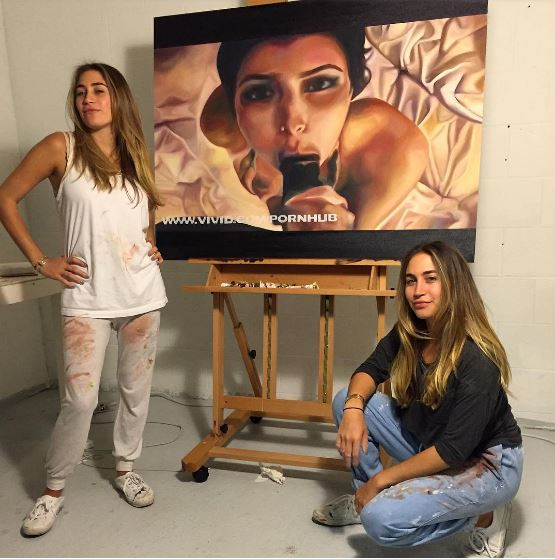These Girls Are Painting Really NSFW Pictures Of Kim Kardashian kim 3