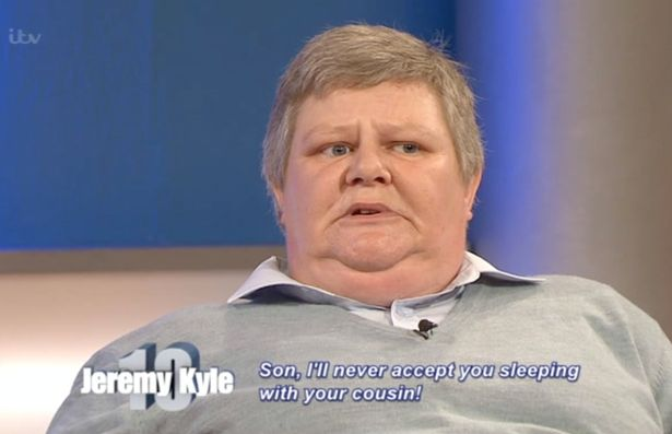 Jeremy Kyle Guest Pleads Son To Stop Having Sex With Cousins kyle1