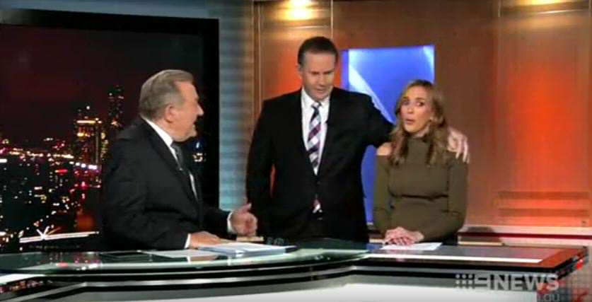 News Anchor Tries To Kiss Weather Girl, Gets Brutally Rejected news 1