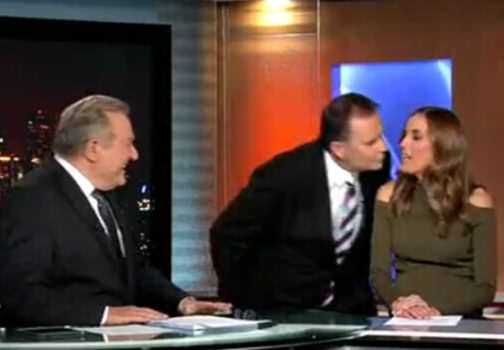 News Anchor Tries To Kiss Weather Girl, Gets Brutally Rejected