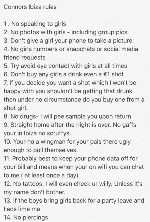 Teen Millionaire Gives Boyfriend Ridiculous List Of Rules For Lads Holiday nintchdbpict000261925230 e1472168013476