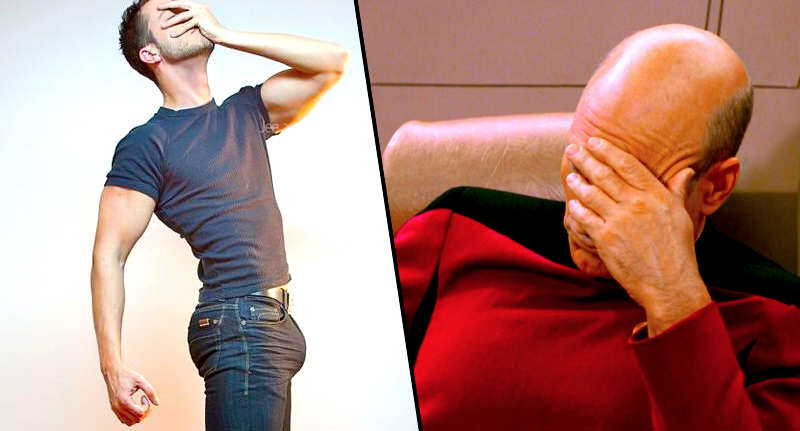 Guy Reveals Bizarre Place He Puts His D*ck In Jeans palm