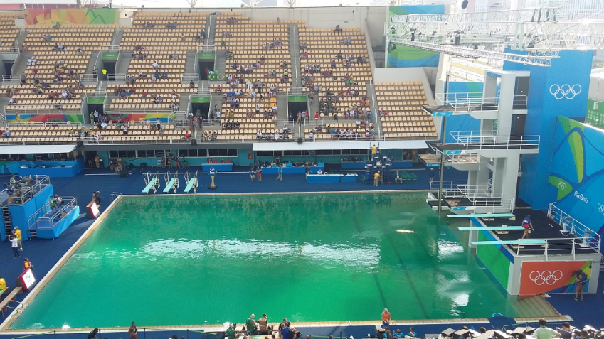 Organisers Finally Reveal Why The Olympic Swimming Pool Turned Green pool