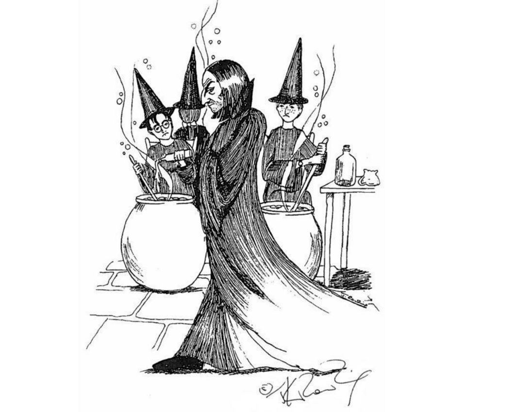 JK Rowling Just Released Some Amazing Early Sketches Of Harry Potter Characters potter 2