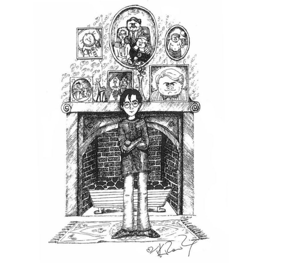 JK Rowling Just Released Some Amazing Early Sketches Of Harry Potter Characters potter 3