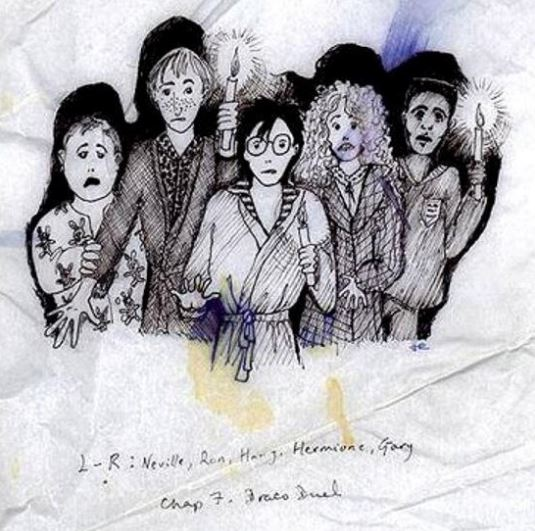 JK Rowling Just Released Some Amazing Early Sketches Of Harry Potter Characters potter 7