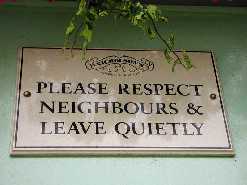 Pub Landlord Puts Up Awesome Sign To Complaining Neighbours pub2