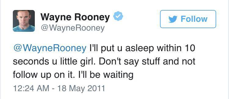 Wayne Rooney Ripped To Shreds After Liking Very NSFW Tweet rooney little girl