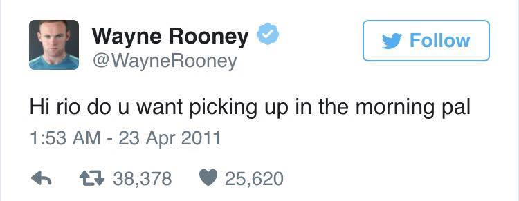 Wayne Rooney Ripped To Shreds After Liking Very NSFW Tweet rooney rio