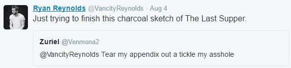 Its Impossible To Gross Out Ryan Reynolds On Twitter It Seems ryan tweet 5