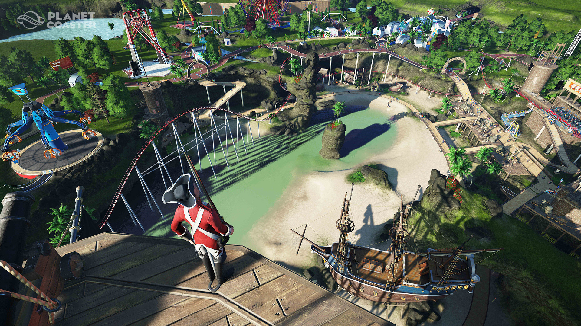 See RollerCoaster Tycoon-Inspired Planet Coaster In Action