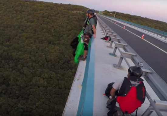 Watch Man Save Base Jumper Moments Before He Nearly Fell To Death BaseJumpWEB