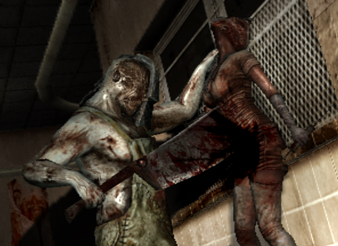 Cancelled Silent Hill Game Footage Surfaces Online Butcher killing nurse