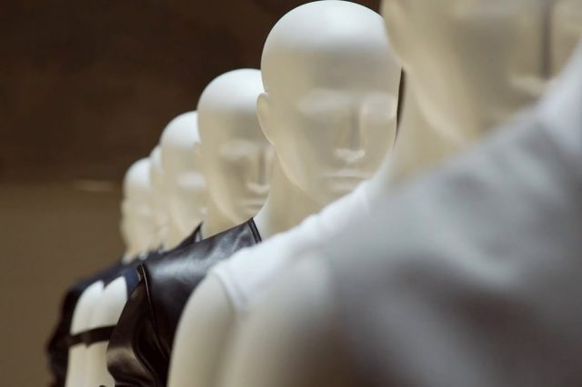 mannequins in a row