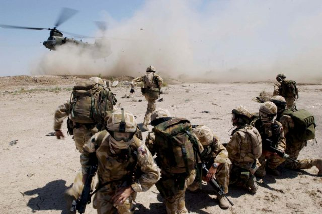 British Troops Combat Insurgent Activity In Southern Iraq