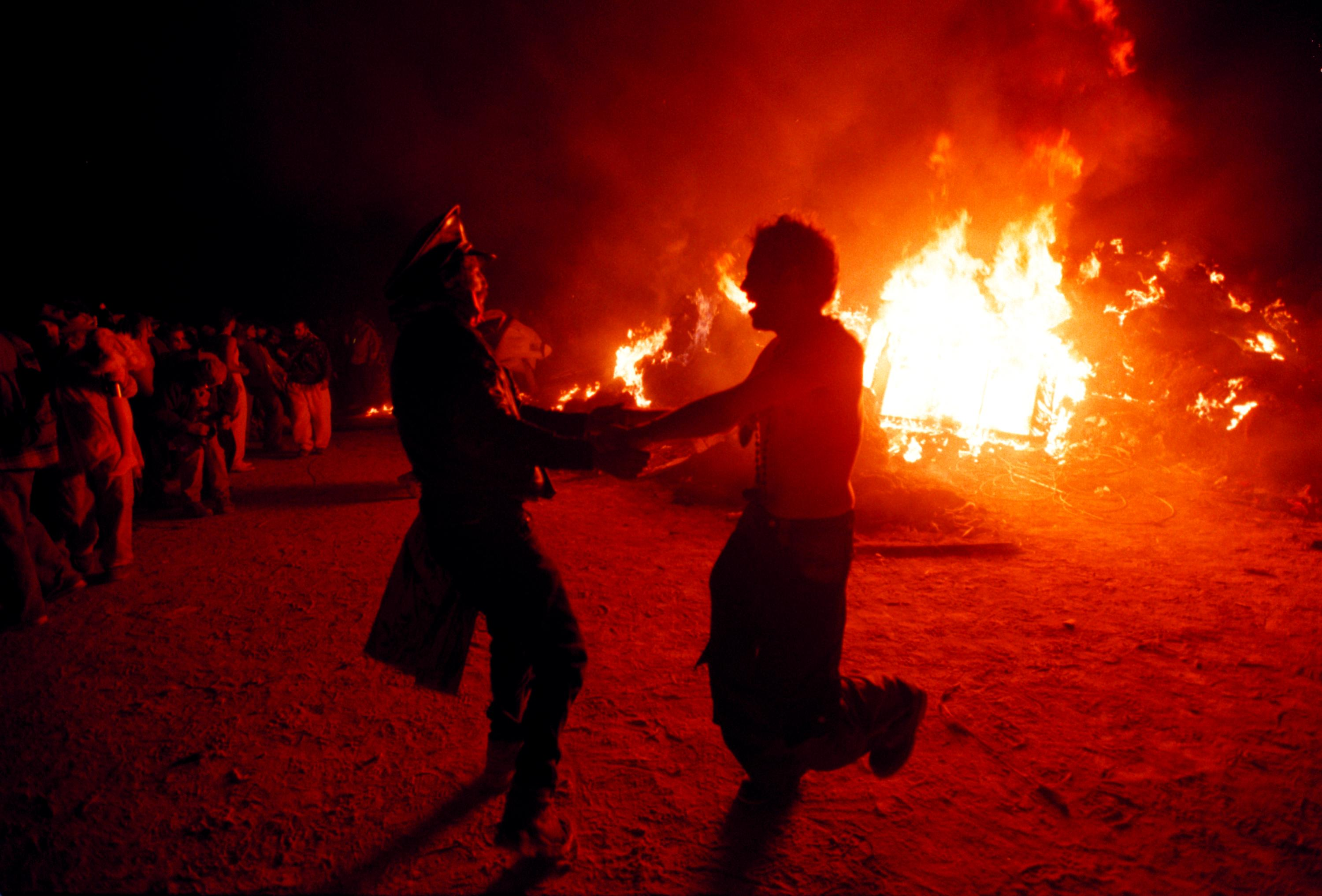 Burning Man Festival in Nevada Desert