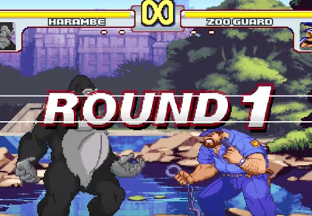 Harambe Is Now A Character In Street Fighter Game Play HarambeStreetFighterWEB