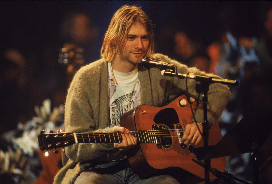 kurt cobain nirvana unplugged