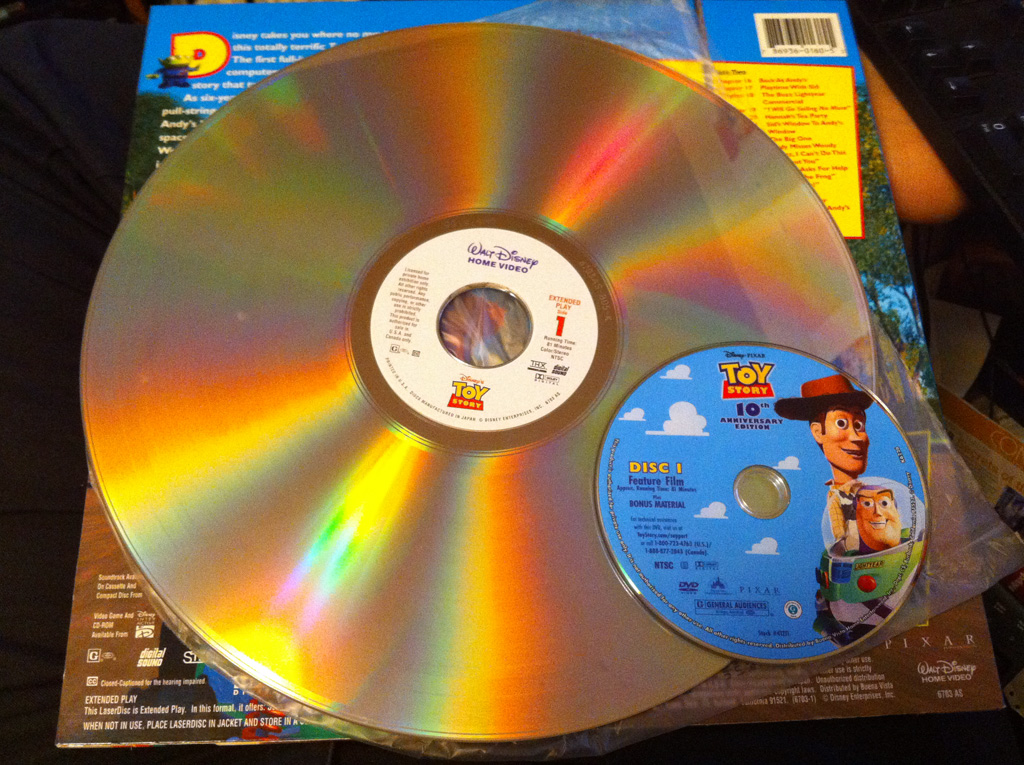 The Six Strangest/Dumbest Videogame Console Ideas Ever LaserDisc DVD Sizes web