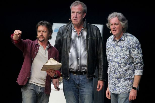The Grand Tour Has Finally Been Given A Release Date Richard Hammond Jeremy Clarkson and James May during the opening night of Clarkson Hammond and May Live at the Odyssey