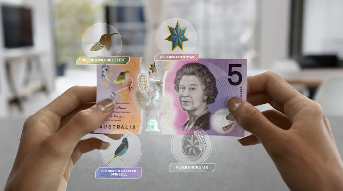 Australias New Bank Note Looks Like Something From Science Fiction australia bank note
