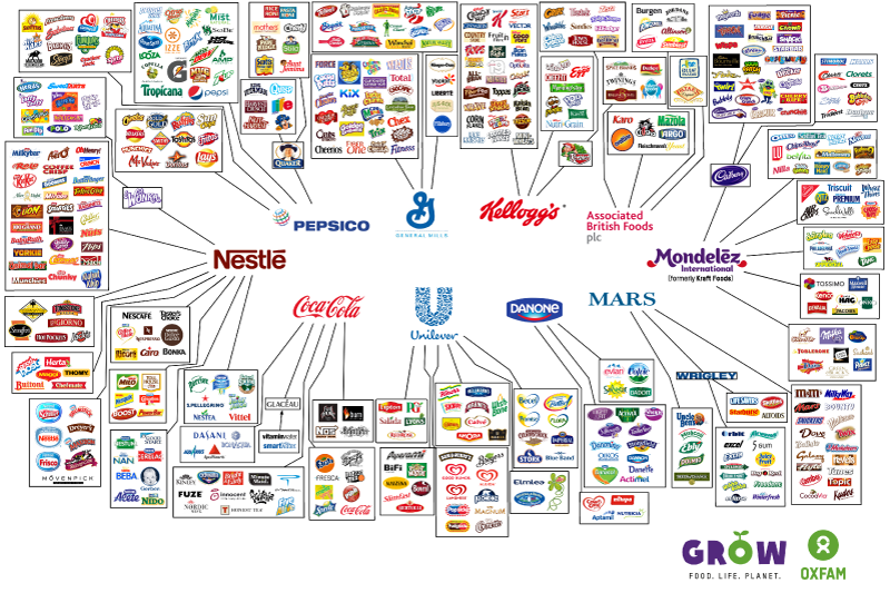 These 10 Companies Control Everything You Buy behind the brands illusion of choice