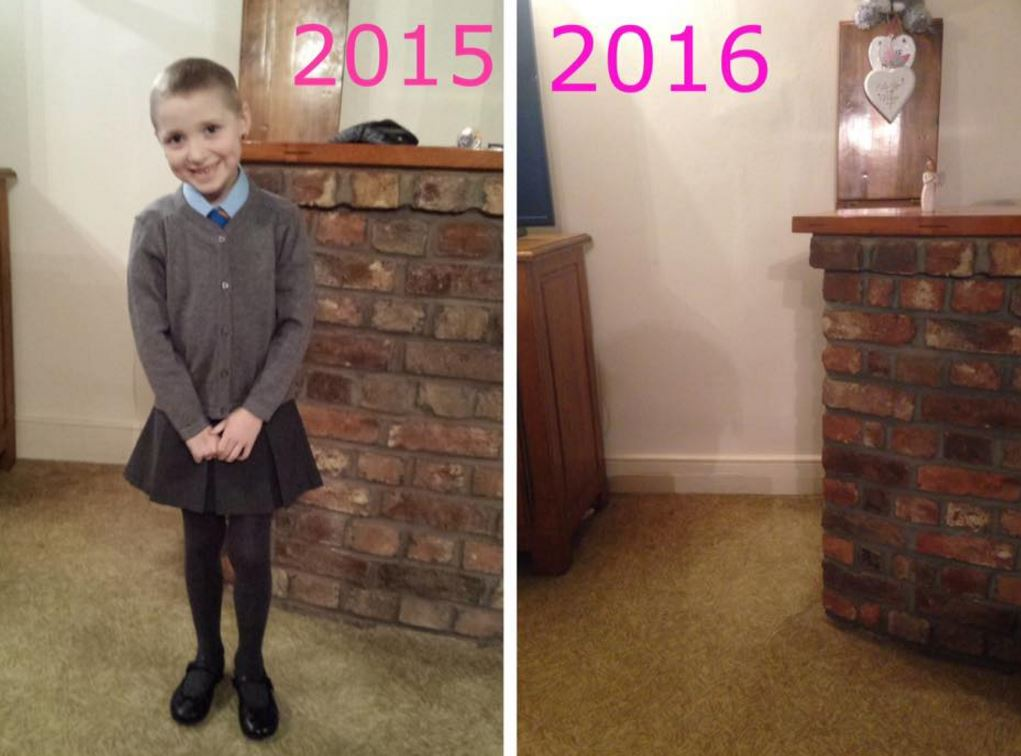 Mum Shares Heartbreaking School Photo To Raise Awareness Of Childhood Cancer cancer 1