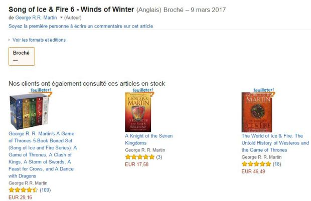 Next Game of Thrones Book Release Date Accidentally Leaked capture10 Amazon