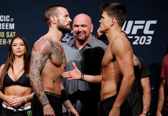 CM Punk Snubs Mickey Gall Handshake At Heated UFC 203 Weigh In