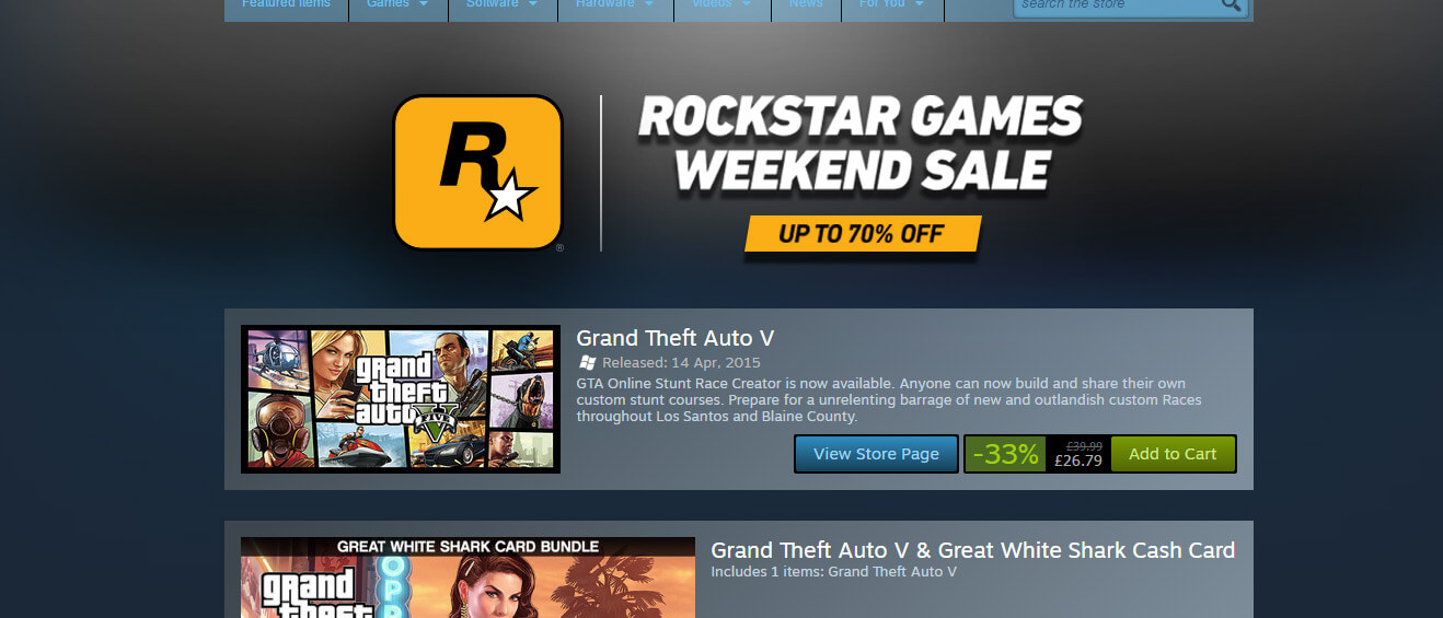 Tons Of Great Rockstar Games Discounted In New Steam Sale