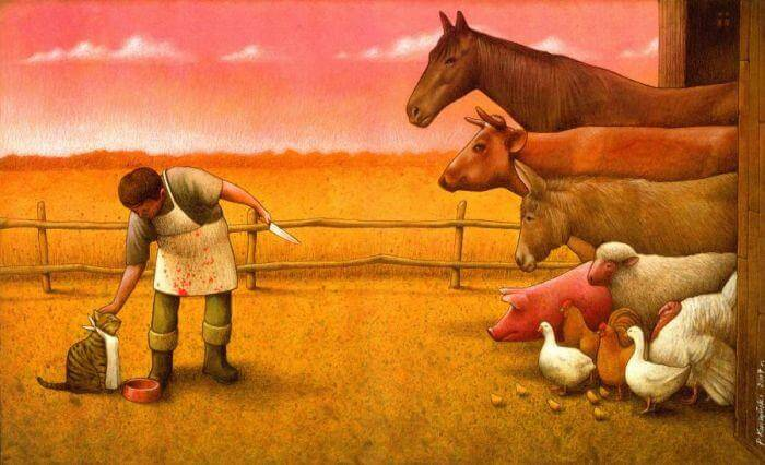 These Incredible Illustrations Show Everything Thats Wrong In The World pawel18