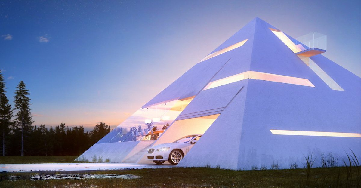 Someone Designed A Perfect Pyramid House And We Want It pyramid house 03 1200x625