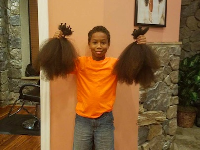 Ten Year Old Boy Donates His Hair After Seeing Young Girl With Cancer thomas1
