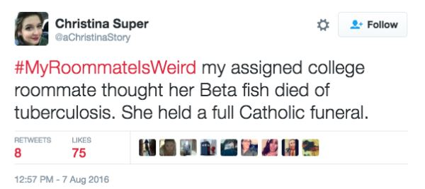 Twitter Users Share Their Weirdest And Wackiest Roommate Stories twitter 12
