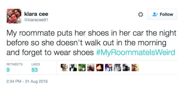 Twitter Users Share Their Weirdest And Wackiest Roommate Stories twitter 14