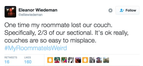 Twitter Users Share Their Weirdest And Wackiest Roommate Stories twitter 2