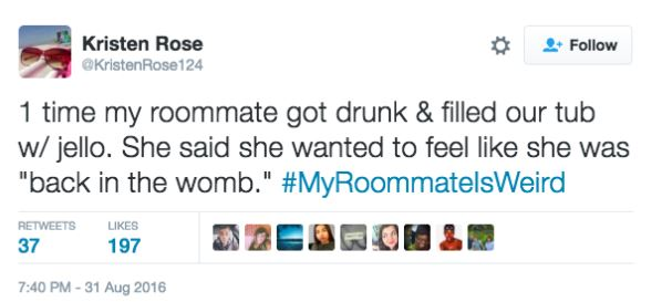 Twitter Users Share Their Weirdest And Wackiest Roommate Stories twitter 3