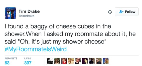 Twitter Users Share Their Weirdest And Wackiest Roommate Stories twitter 5
