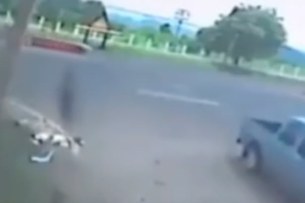 CCTV Captures The Moment Soul Leaves Womans Body After Fatal Accident 11540UNILAD imageoptim Video claims to show dead motorcyclists soul leaving his body