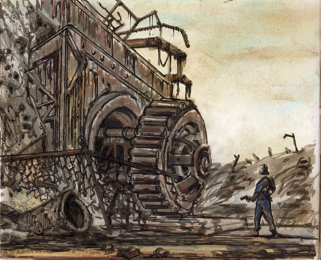 this concept art for fallout 3 is absolutely stunning