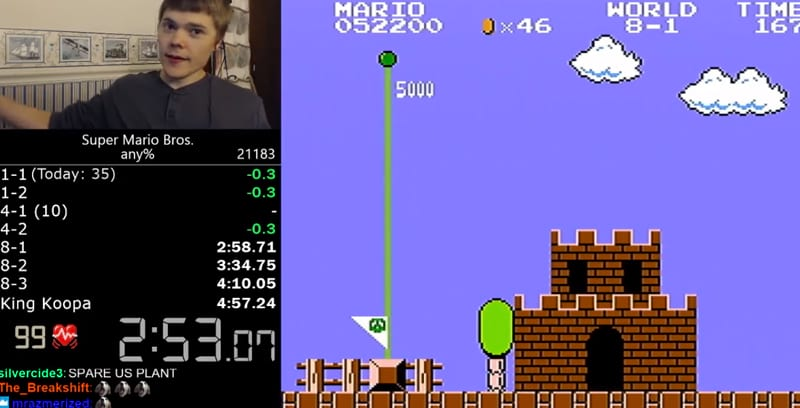 Super Mario Bros Speedrunner Sets Impossible New World Record 15648UNILAD imageoptim mazza
