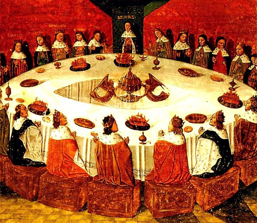 Has Magic Ever Really Existed In Britain? 18186UNILAD imageoptim 885px King Arthur and the Knights of the Round Table wikimedia