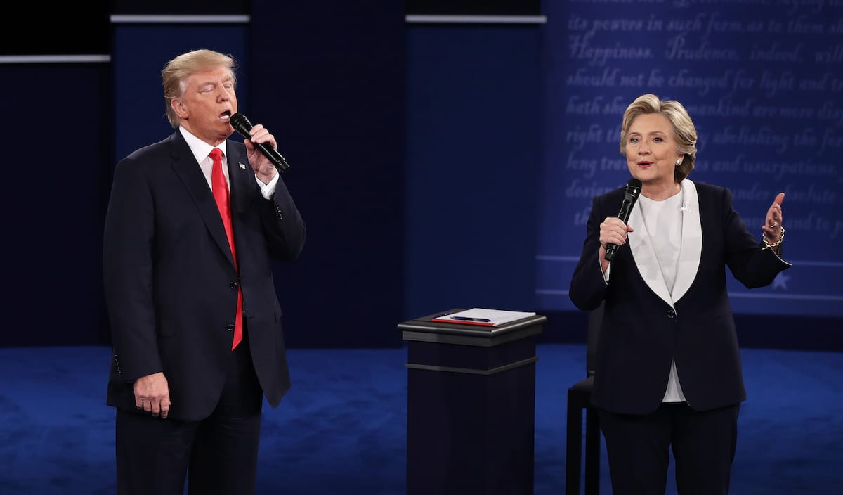 An Absolute Genius Edited Trump And Hillary Debate Into A Romantic Duet 28801UNILAD imageoptim GettyImages 613699898