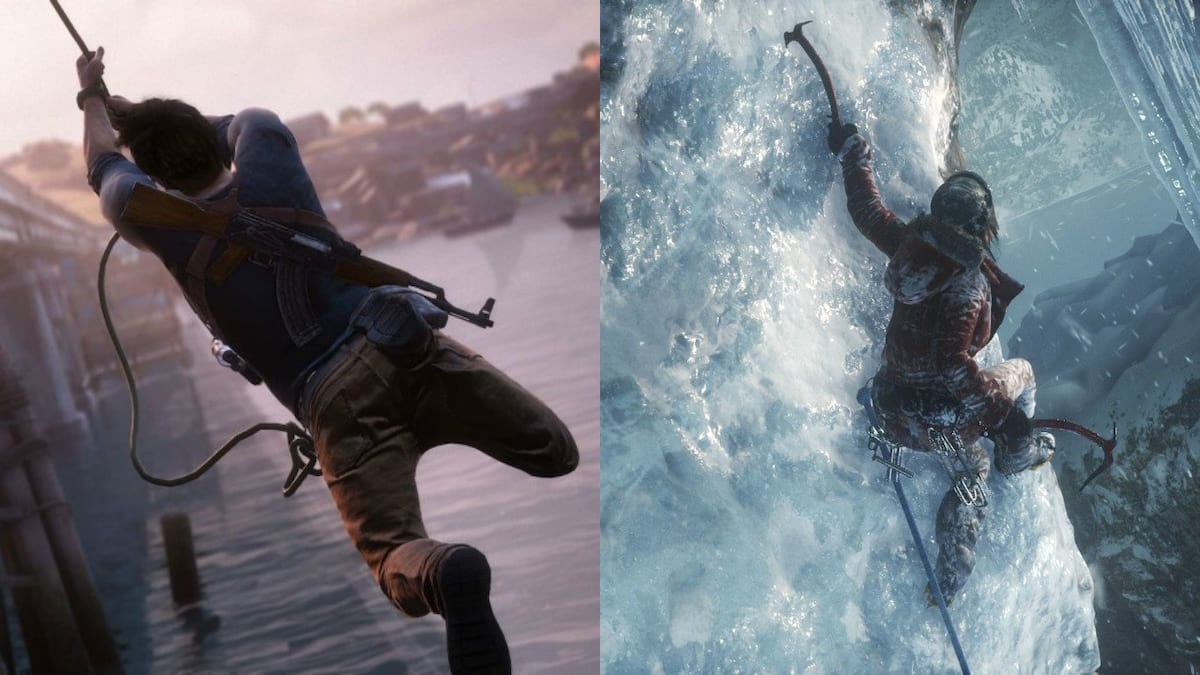 Tomb Raider Dev Speaks Out On Uncharted Rivalry 46100UNILAD imageoptim uncharted 4 v rise of the tomb raider