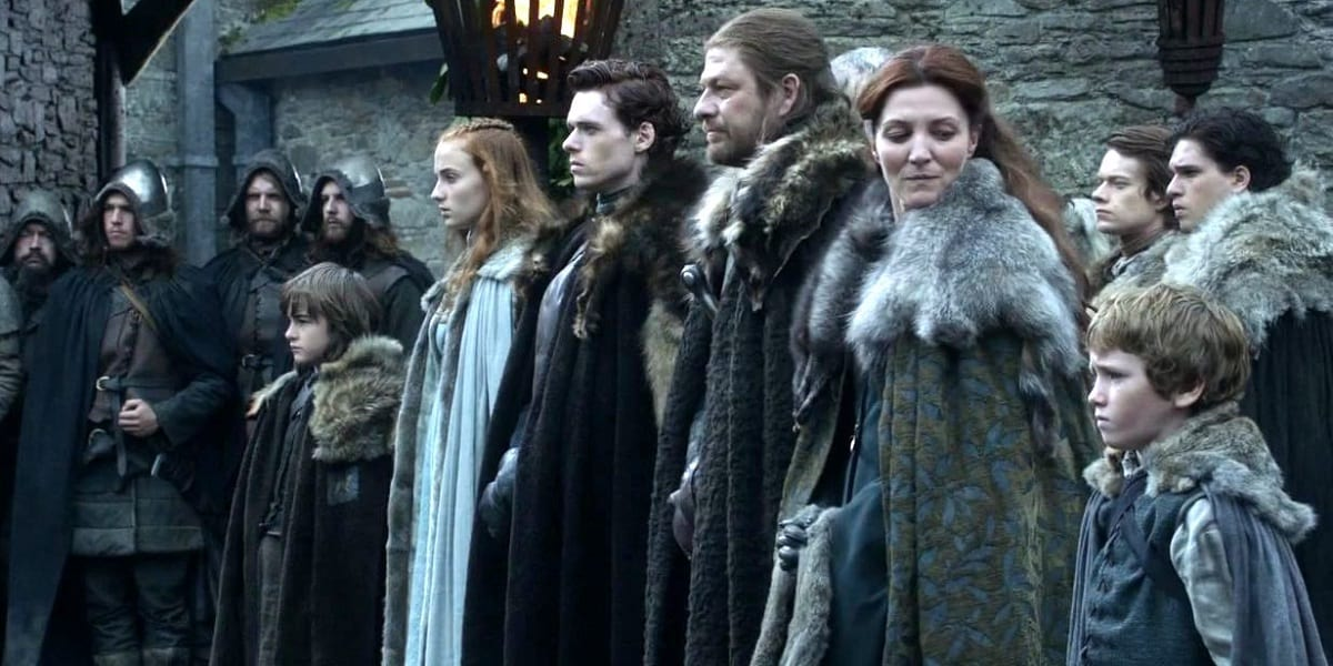 Leaked Photo Hints At Major Stark Reunion In Game Of Thrones 47367UNILAD imageoptim The Stark Family in Game of Thrones