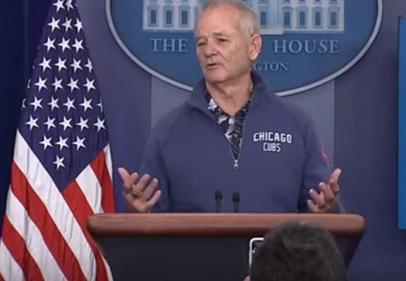 Bill Murray Randomly Wanders Into White House And Starts Answering Questions 50126UNILAD imageoptim bill murray featured